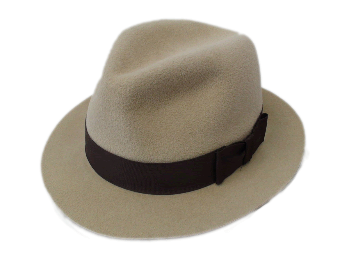 d759fc31934 NEW Smithbilt Hats Crushable Kakhi Fur Felt Fedora Hat Size L