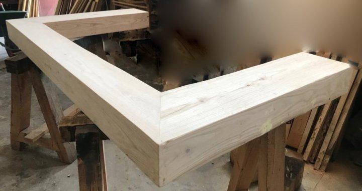 Trave su misura per camino in legno massello