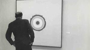 O crítico Clement Greenberg - Foto de Artspace.
