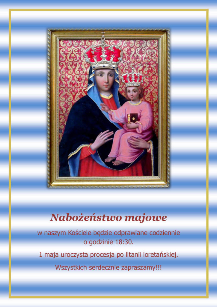 Nabożeństwa majowe w kościele Ojców Bernardynów
