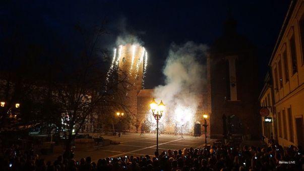 Mit einem Feuerwerk am Steintor endete (fast) der 1. Tag des Hussitenfest