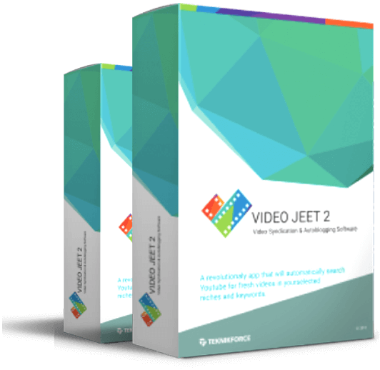 Mockup cover of Video Jeet 2 TeknikForce DVD merchandise on two boxes