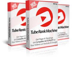 Mockup cover of Tube Rank Machine on three boxes