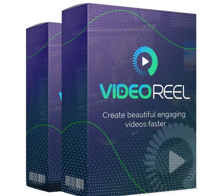 Mockup cover of VideoReel on two merchandise boxes