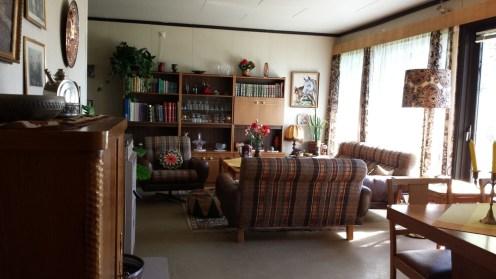 Wohnzimmer der 70er.