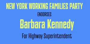Barbara-Kennedy is endorsed by NY Working Families Party