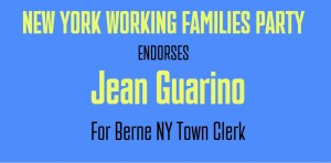 Jean Guarino, Candidate for Town Clerk in Berne-NY