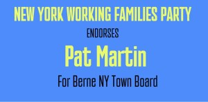 Pat Martin is endorsed by Working Families Party of NY