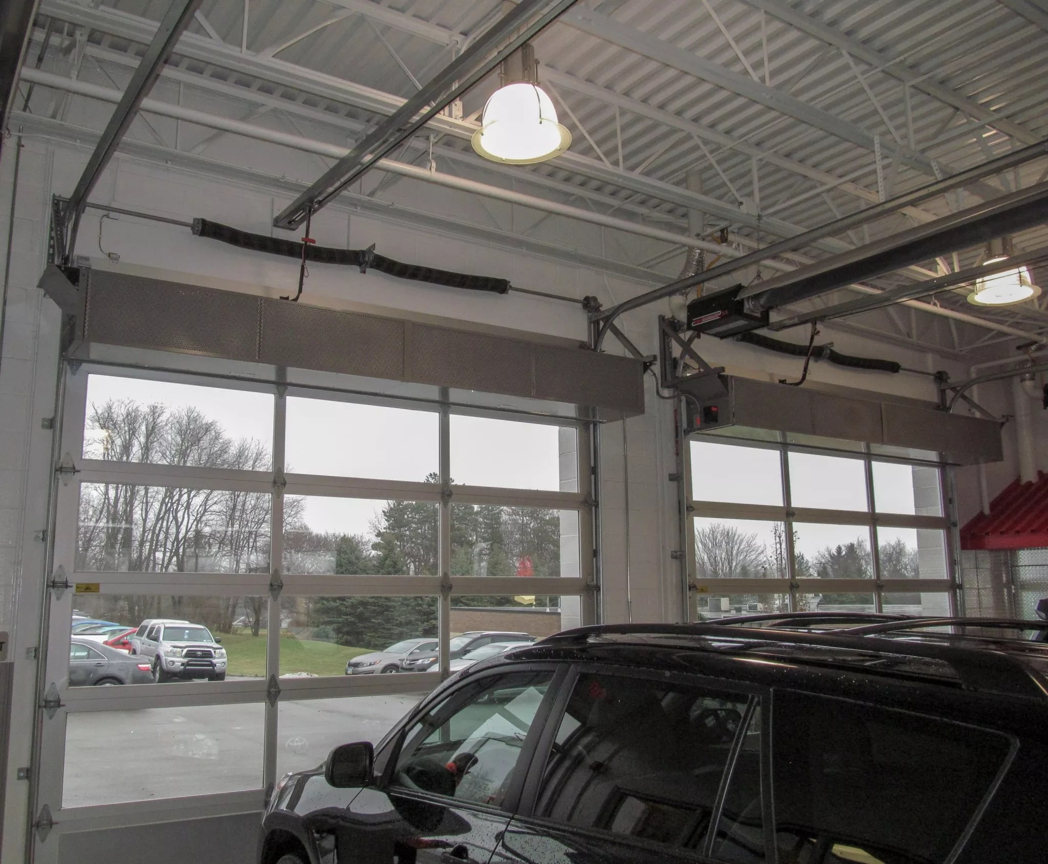 car dealership embraces air curtains