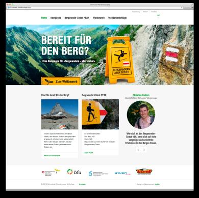 Sujets Kampagne Sicher Bergwandern