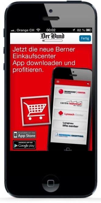 Bewerbung iPhone-App Der Bund