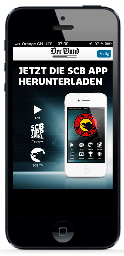 iPhone Interstitial Der Bund-App