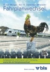 Plakat BLS Fahrplanwechsell
