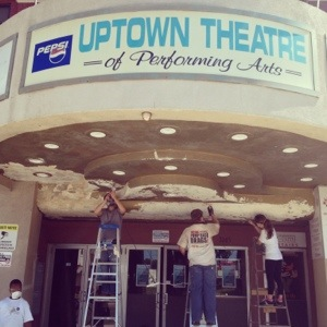 August 2013 BYP Clean up at the Uptown Theatre!