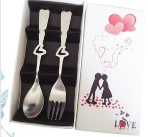 FAV01 - Kiss Silver Spork Wedding Favour