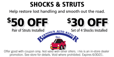 Shock & Struts Coupon