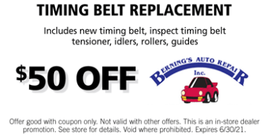 Timing Belt Replacement Coupon