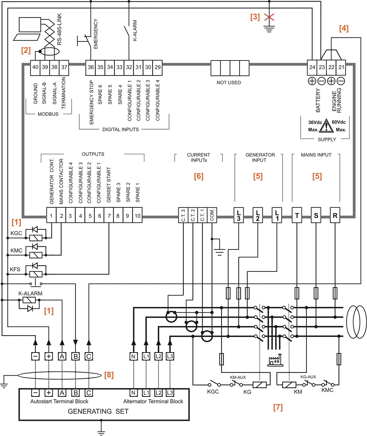Automatic Transfer Switch Circuit Diagram Genset Controller