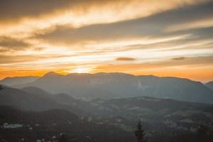 Blickplatz Sonnwendstein Sonnenuntergang