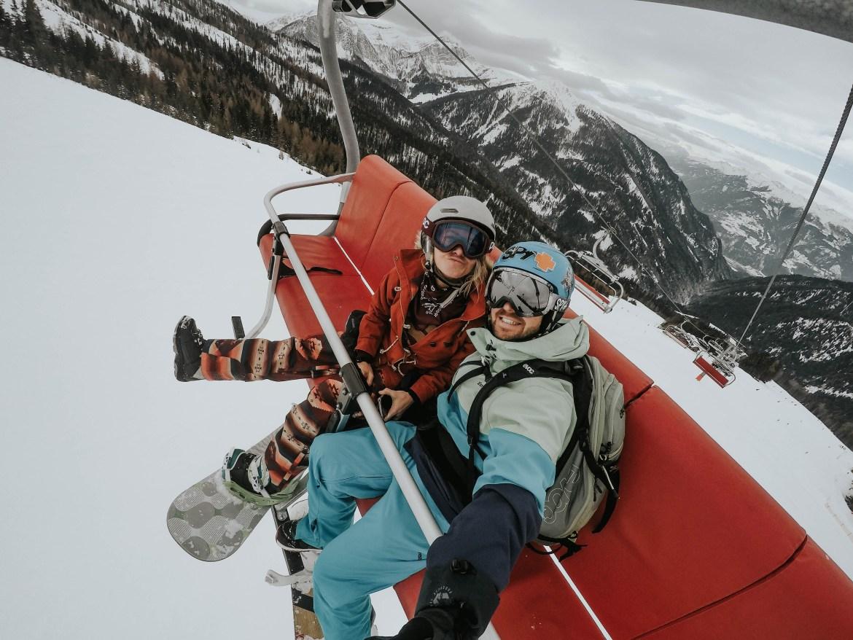 Snowboarden am Goldeck am Millstätter See