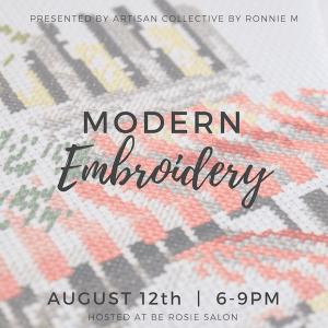 Modern Embroidery Workshop @ be Rosie Salon   Claremont   California   United States