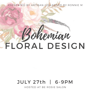 Bohemian Floral Design @ be Rosie Salon   Claremont   California   United States