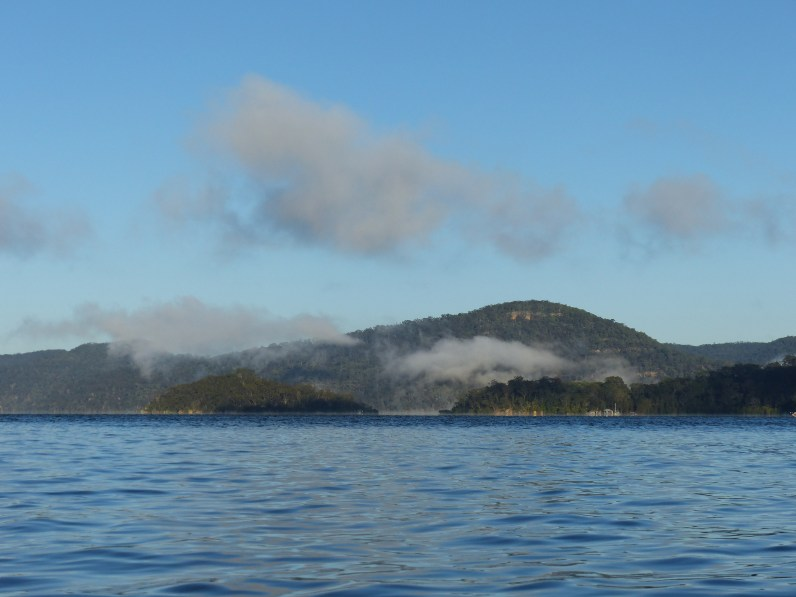 Bar Island under its own cloud