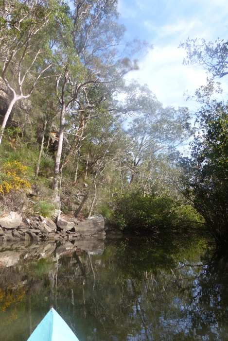 Bottom of the cliffside in Kimmerikong Creek