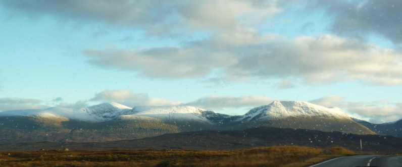 Glen Orchy hills from Rannoch Moor