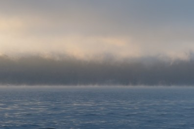 Fog in front of Dangar Island