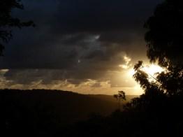 Midsummer evening sky