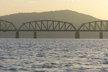 Hawkesbury River Railway Bridge at dawn
