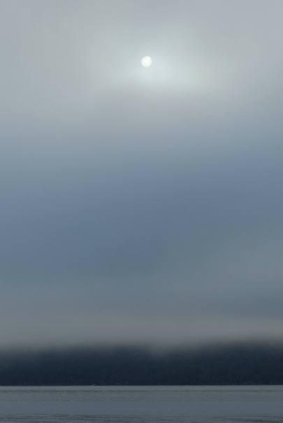 Misty sun above Grace's Shore