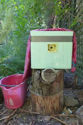 Evaporative airconditioning for bees