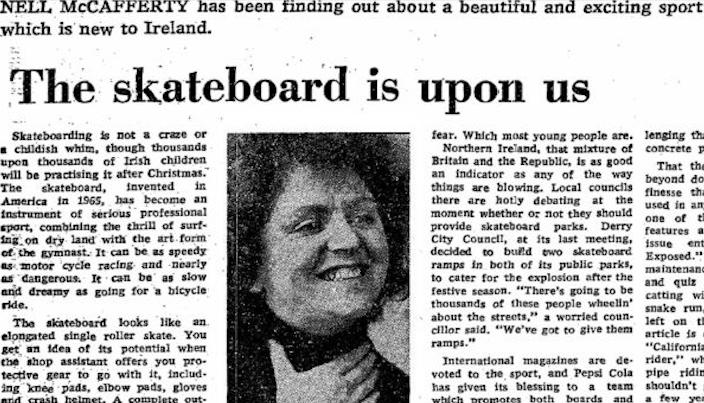 'Irish Times' Investigates The Origins Of Skateboarding In Ireland