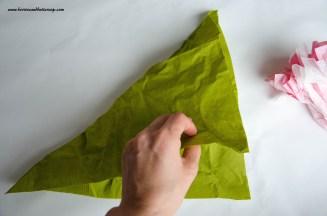Servietten falten Kirschblüte DIY Anleitung Tischdeko (7)