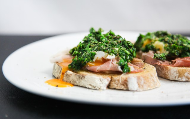 Exquisite and Simple Prosciutto Chimichurri Brunch Toast