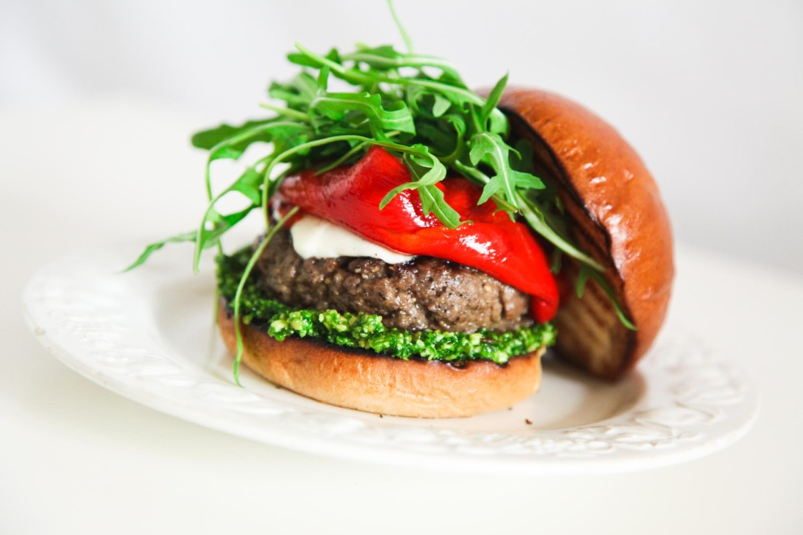 Super Simple and Incredibly Yummy Italian Burger | Berries and Spice