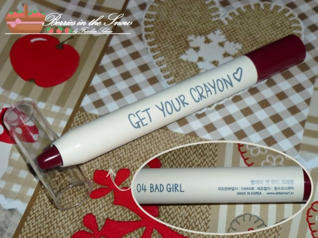 "Belleme Cosmetics Get Your Crayon ""Bad Girl"""