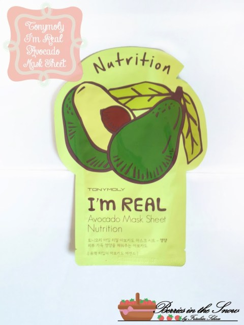 Tonymoly I'm Real Avocado Mask Sheet
