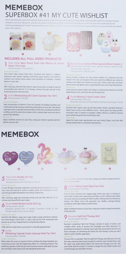 MeMeBox My Cute Wishlist