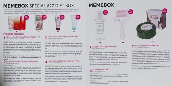 Unboxing: MeMeBox Diet Box