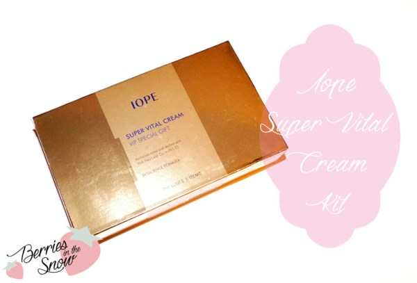 Iope Super Vital Cream VIP Kit