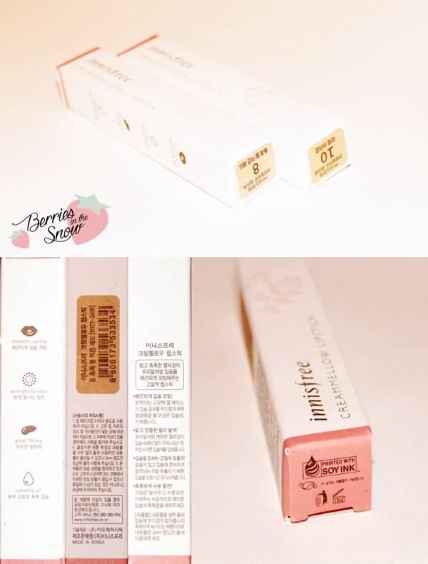 Innisfree Creammellow Lipsticks