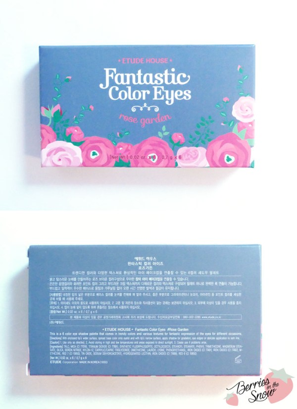 Etude House Fantastic Color Eyes Rose Garden