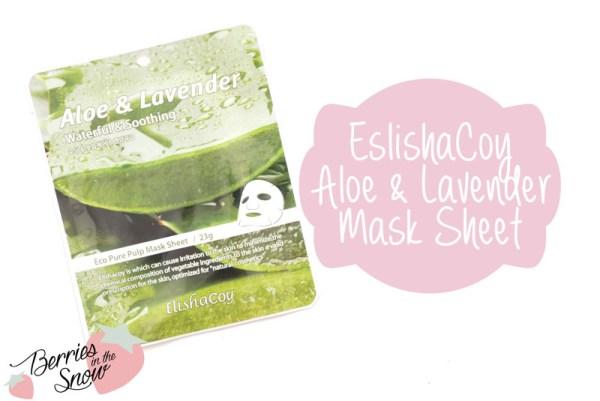 ElishaCoy Aloe & Lavender Mask Sheet