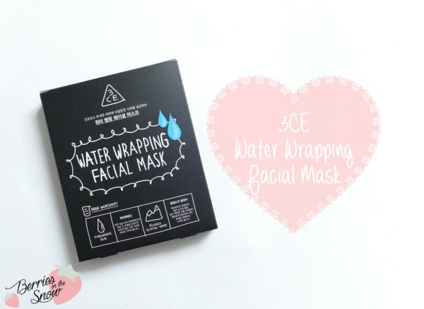 3CE Water Wrapping Facial Mask
