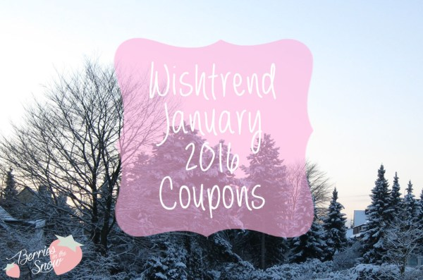 Wishtrend January 2016 Coupons