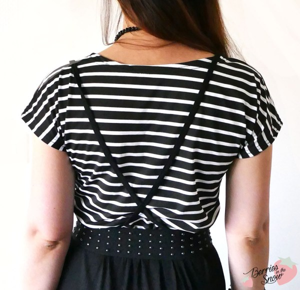 Striped Mix & Match Strappy Dress by Romwe