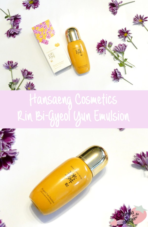 Hansaeng Cosmetics Rin Bi-Gyeol Yun Emulsion